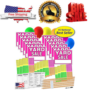 Yard Sale Signs Banner Kit With Sticks Advertising Garden Products Made In Usa