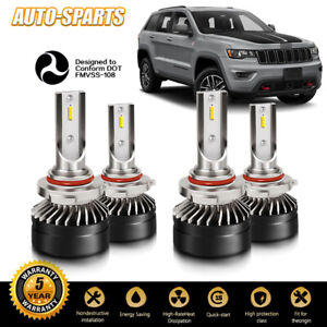 9005 9006 Combo Led Headlight High low Beam Bulbs Kit 6000k White 120w 24000lm
