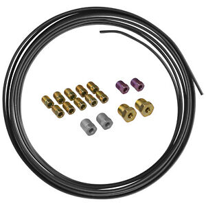 Pvf Coated Steel Brake Fuel Transmission Line Coil And Fitting Kit 3 16 X 25ft
