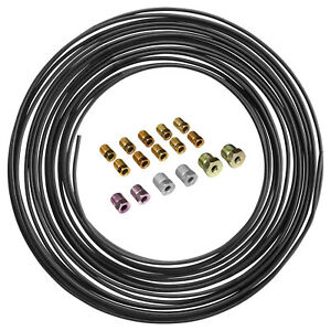Pvf Coated Steel Brake Fuel Transmission Line Coil And Fitting Kit 3 16 X 50ft