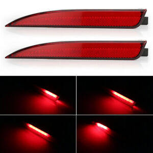 Red Led Reflector Brake Tail Lights W Sequential Signal For Vw Scirocco 11 15