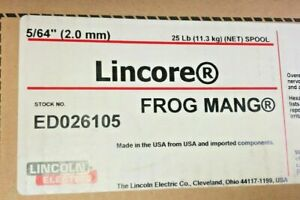 Lincoln Electric Ed026105 Lincore Frog Mang 5 64 2 0mm Hardfacing Cored Wire