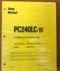 Komatsu Pc240lc 10 Hydraulic Excavator Shop Repair Service Manual