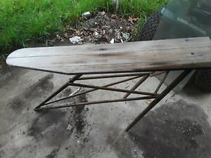 Antique Vintage Two Wooden Ironing Boards