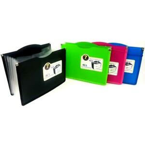 Globe weis 7 Pocket Expanding File Asst Colors Case Pack Of 6