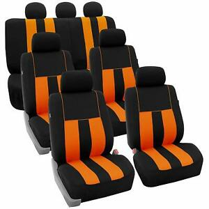 Car Seat Covers Striking Striped Three Row Fit Most Car Truck Suv Or Van