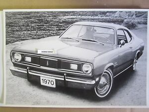 1970 Plymouth Duster 2 Door Hardtop 12 X 18 Black White Picture