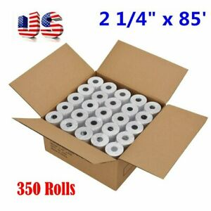 350 Roll Case 2 1 4 X 85 Thermal Credit Card cash Register Pos Receipt Paper Us