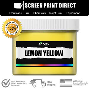 Ecotex Lemon Yellow Premium Plastisol Ink For Screen Printing 8oz