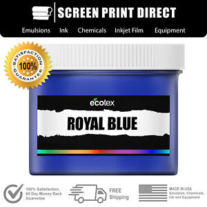 Ecotex Royal Blue Premium Plastisol Ink For Screen Printing 8oz