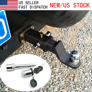 5 8 Locking Hitch Pin Stainless Steel Truck Trailer Receiver Lock W Keys Cover