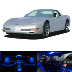 9 X Blue Led Interior Bulbs Lights Package Kit For 1997 2004 Chevy Corvette C5