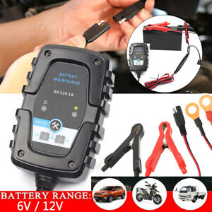 6v 12v Auto Battery Charger Maintainer Trickle For Harley Davidson Motorcycles
