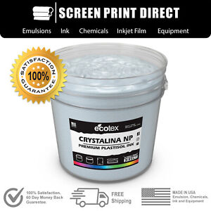 Ecotex Crystalina Premium Plastisol Ink For Screen Printing 8oz