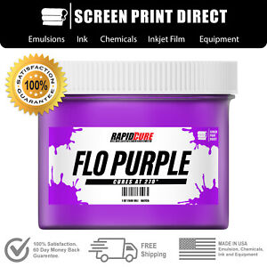 Flo Purple Screen Printing Plastisol Ink Low Temp Cure 270f 8oz