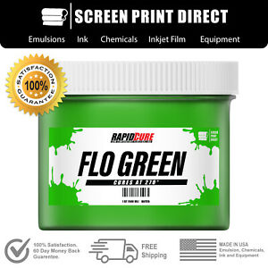 Fluorescent Green Screen Printing Plastisol Ink Low Temp Cure 8oz