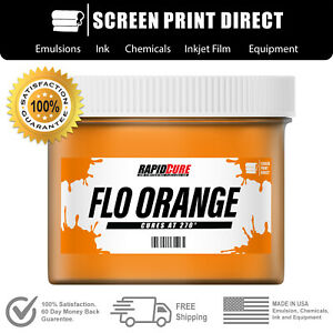 Fluorescent Orange Screen Printing Plastisol Ink Low Temp Cure 8oz