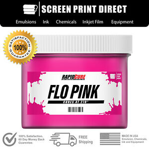 Fluorescent Pink Screen Printing Plastisol Ink Low Temp Cure 8oz