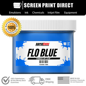 Fluorescent Blue Screen Printing Plastisol Ink Low Temp Cure 8oz