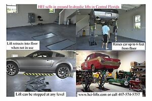 Spring Special In Ground Flush Mount Full Height Hydraulic Vehicle Lift