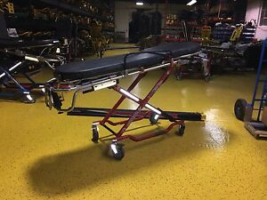 Ferno 35x St Proflexx W Stat Track 700 Lbs Ambulance Stretcher Red Cot Free Ship