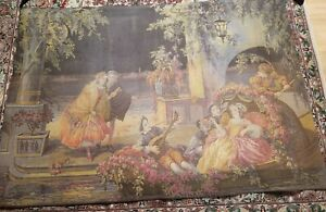 Large Victorian French Tapestry Signed B Deligne