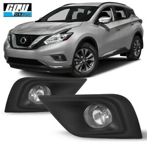 15 17 Fit Nissan Murano Clear Lens Pair Oe Fog Light Lamp wiring switch Kit Dot