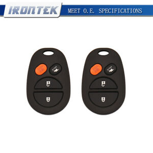 2 Replacement For Toyota Solara 2004 2008 Remote Keyless Entry Fob