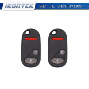 2x Replacement Keyless Entry Remote Control Key Fob For Honda Nhvwb1u521
