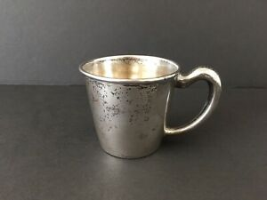 Sterling Silver Saart Brothers Ssmc Baby Cup Monogrammed Christine 44g