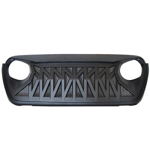 Front Shark Grille Insert Mesh Guard For 2018 2019 Jeep Wrangler Jl Abs Plastic