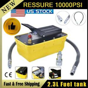 10 000psi Auto Body Frame 2 3l Air Hydraulic Foot Pedal Pump Pneumatic Machines