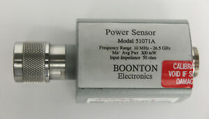 Boonton 51071a 10mhz To 26 5ghz Dual Diode Power Sensor 70 To 20dbm