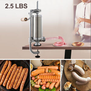 2 5l Vertical Sausage Stuffer Maker Meat Filler Stainless Steel Commercial New