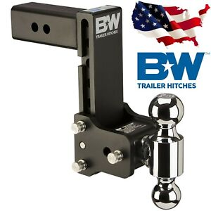 B W Trailer Hitches Ts20040b Tow And Stow Hitch Ball Mount 2 5 Shank Dual Ball
