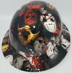 New Full Brim Hard Hat Custom Hydro Dipped Mexican Flag Free Shipping
