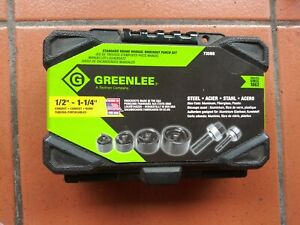 Greenlee Knockout Metal Punch Set 735bb New 1 2 1 1 4