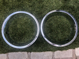 2 New 69 Camaro 1967 Corvette 1969 1981 Premium Quality Oval Hole 15 Trim Rings