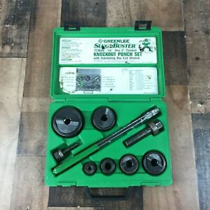 Greenlee Tools 7238sb Slug buster Knockout Punch Set W Ratchet Wrench Usa Made