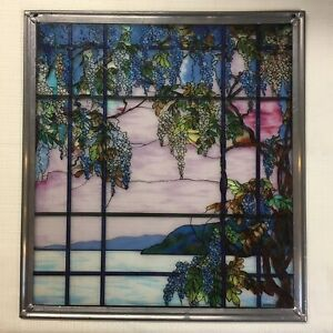 Glassmasters Tiffany Stained Glass Window Panel View Of Oyster Bay Lovely
