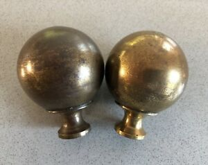 Brass Bed Knobs 3 Inch Pair Antique Vintage Decoration Could Be Curtain Finial