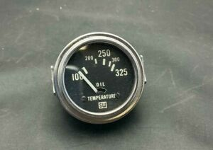 Vintage Nos Stewart Warner 2 Chrome Oil Temperature Gauge 100 325 425227