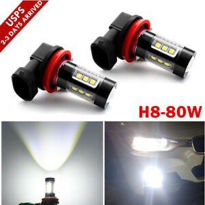 H11 H8 H9 80w Led Fog Light Conversion Bulb Driving Lamp Drl 6000k Hid Brighter