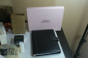 Agent Provocateur Stylish Black Leather A5 Journal Organiser Folio Bnib