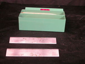 Lot Of 2 Lipshaw Microtome Knife Blade 185mm L X 31 Mm H Green Box 2