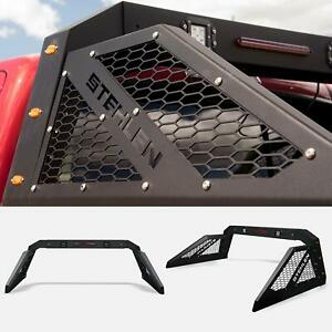 Universal Adjustable Truck Bed Chase Rack led Bars brake Lamp amber Matte Black