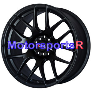 Xxr 530 17 Flat Black Staggered Rims Wheels Concave 5x4 5 94 98 Ford Mustang V6