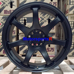 Xxr 551 Wheels 17x8 25 36 Flat Black Rims 5x114 3 06 15 18 Honda Civic Si Ex t