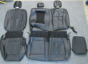 2015 2020 Original Ford F150 Takeoff Rear Black Leather Seat Upholstery