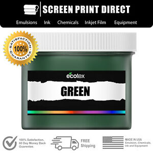 Ecotex Green Premium Plastisol Ink For Screen Printing 8oz